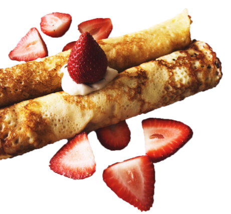 Cream Cheese or Jam Crepes